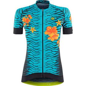 Alé Cycling Graphics PRR Savana Fietsshirt korte mouwen Dames zwart/turquoise